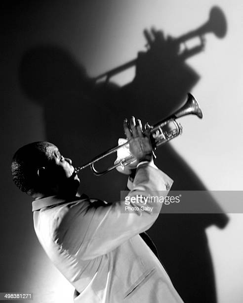 American jazz trumpeter singer bandleader and actor Louis Armstrong Montreal Canada 1967