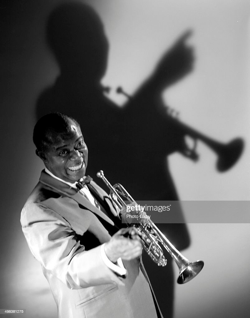 American jazz trumpeter, singer, bandleader and actor, Louis Armstrong (1900 - 1971), Montreal, Canada, 1967.