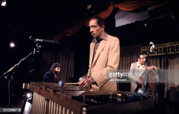 American jazz vibraphone player Milt Jackson with American jazz pianist Monty Alexander and American jazz bassist Ray Brown performing at Jazzhus...
