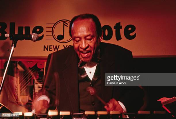 American jazz vibraphonist pianist percussionist and bandleader Lionel Hampton New York City 18th August 1997