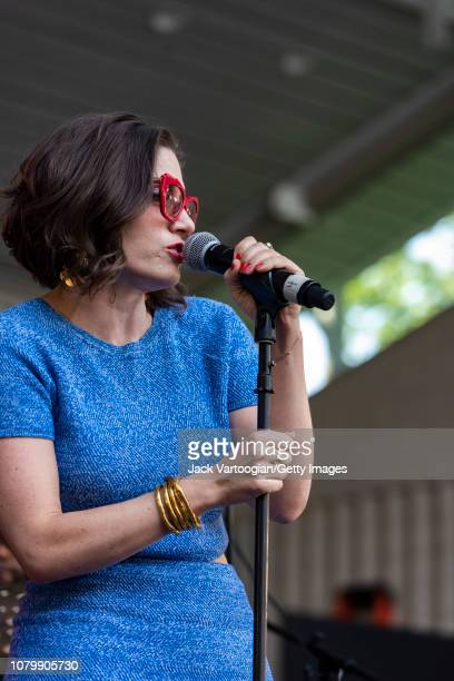 American Jazz vocalist Andrea Pizziconi performs at the Richard Rodgers Amphitheater on the second day of the 26th Annual Charlie Parker Jazz...