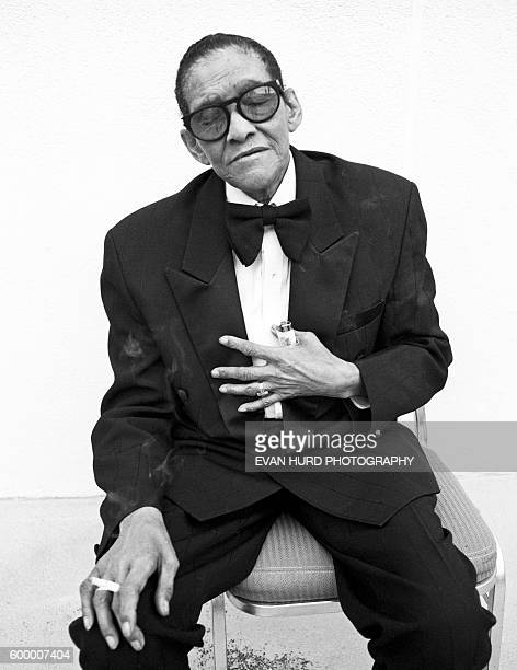 American jazz vocalist James Victor 'Jimmy' Scott during the New Orleans Jazz Heritage Festival 'Little' Jimmy Scott is famous for his unusually high...