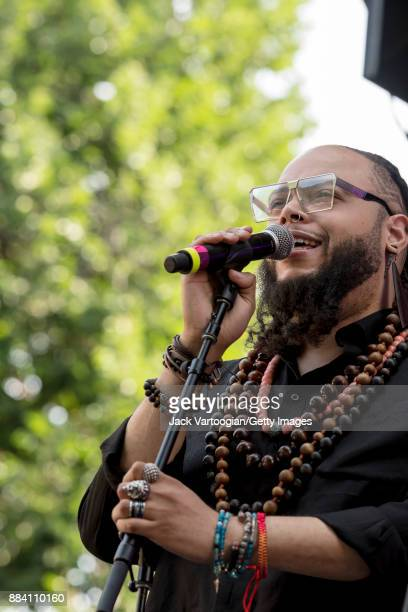 American Jazz vocalist Rasul ASalaam performs with Alicia Olatuja's band on the final day of the 25th Annual Charlie Parker Jazz Festival in Tompkins...
