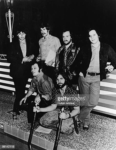 American jazzrock group Blood Sweat and Tears have a drink as they are interviewed poolside Sydney Australia February 24 1971 The members of the band...