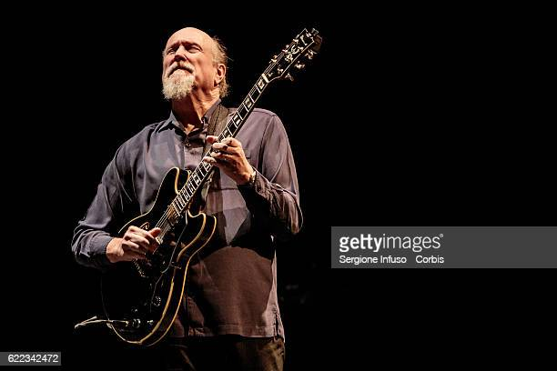 American jazzrock guitarist and composer John Scofield performs on stage on November 9 2016 in Milan Italy