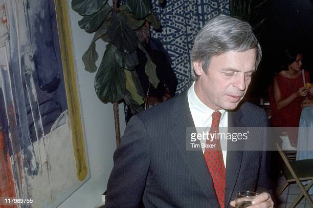 American journalist and author George Plimpton attends the release party for film 'The Next Man' in the home of MGM chairman Bo Polk, New York, New...
