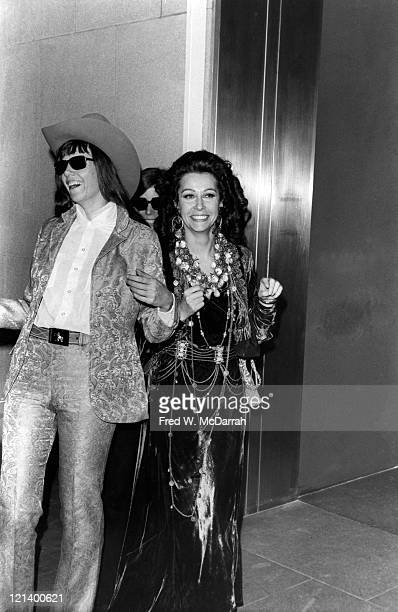 American journalist and author Jill Johnston and French artist and author Ultra Violet at the Museum of Modern Art New York New York November 28 1968