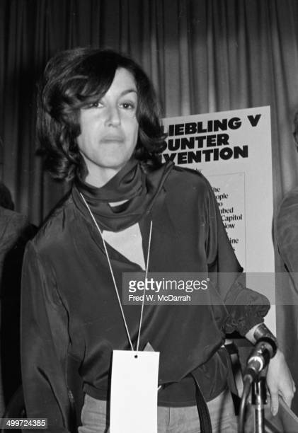 American journalist and author Nora Ephron attends the A.J. Liebling Counter-Convention, New York, New York, November 20, 1976. The convention, named...