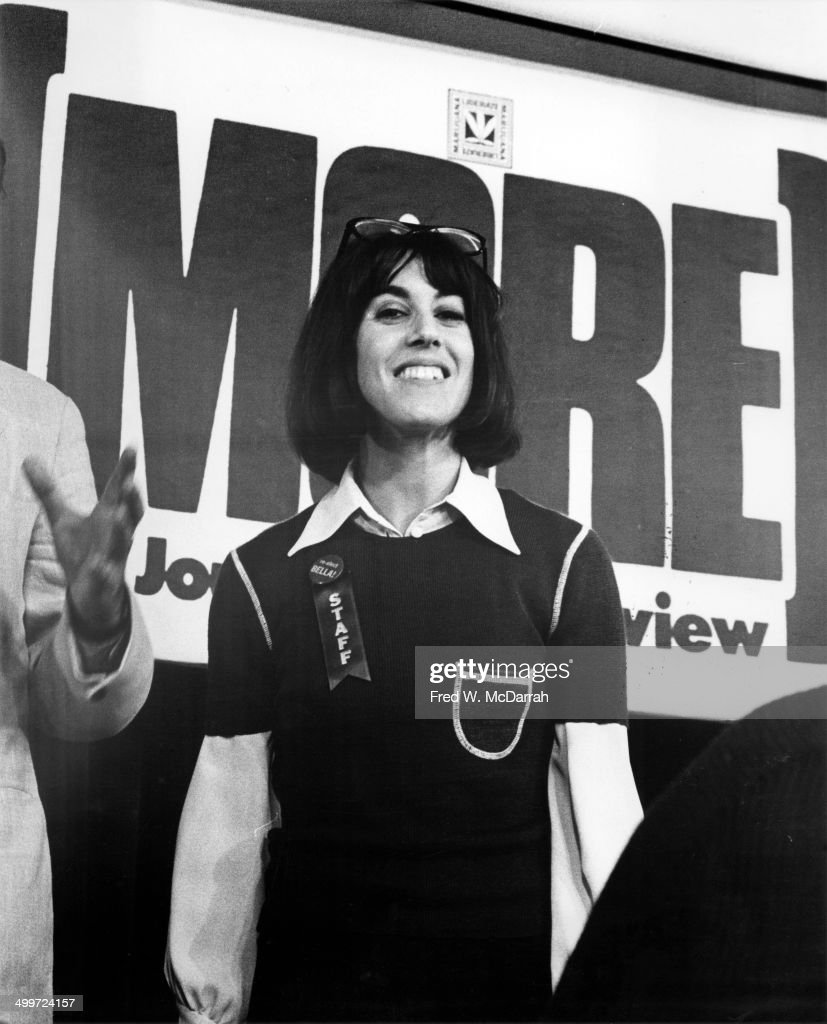 American journalist and author Nora Ephron (1941 - 2012) (center) smiles during a panel discusison entitled 'How They Cover Me' at the A.J. Liebling Counter-Convention, New York, New York, April 23, 1972. The convention, named after noted media critic A.J. Leibling, was arranged in opposition to the American Newspaper Publishers Association convention, which opened on the same day.