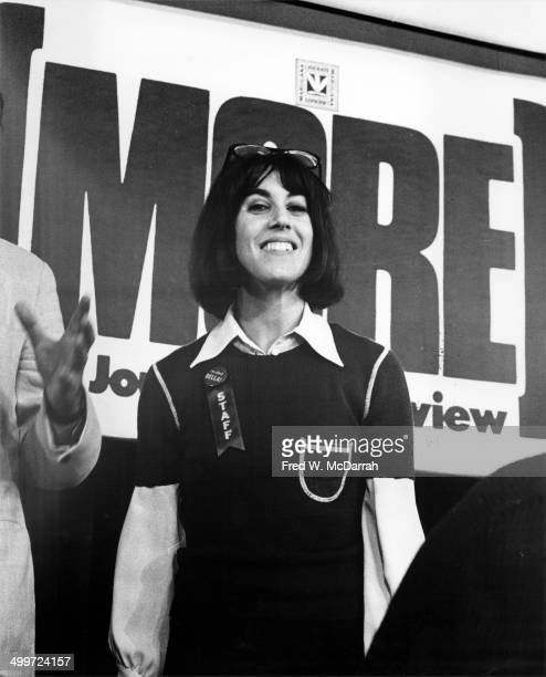 American journalist and author Nora Ephron smiles during a panel discusison entitled 'How They Cover Me' at the A.J. Liebling Counter-Convention, New...