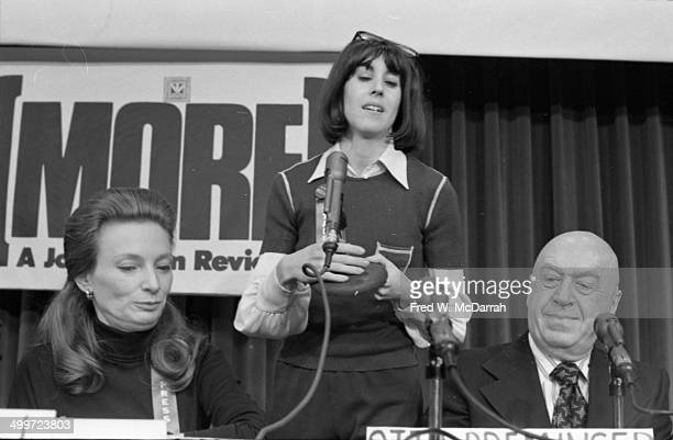 American journalist and author Nora Ephron speaks at a panel discusison entitled 'How They Cover Me' at the AJ Liebling CounterConvention New York...