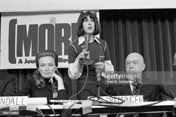American journalist and author Nora Ephron speaks at a panel discusison entitled 'How They Cover Me' at the A.J. Liebling Counter-Convention, New...