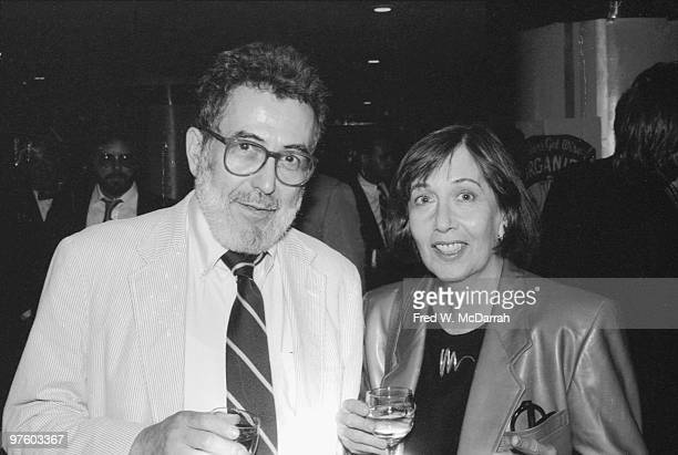 American journalist and music critic Nat Hentoff and his wife author Margot Hentoff attend a Roseland Ballroom benefit for striking Californian...