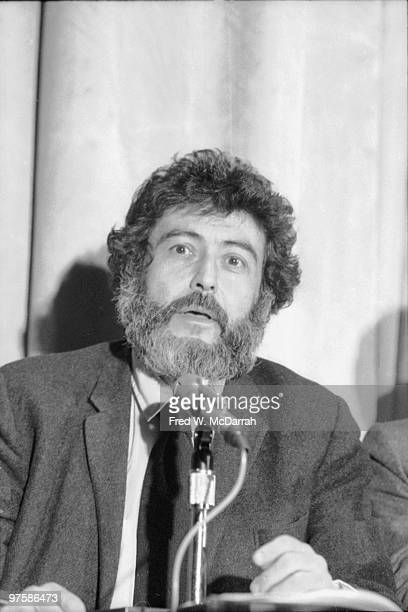 American journalist and music critic Nat Hentoff speaks at a panel discussion about the work of GreekFrench filmmaker Costa Gavras New York New York...
