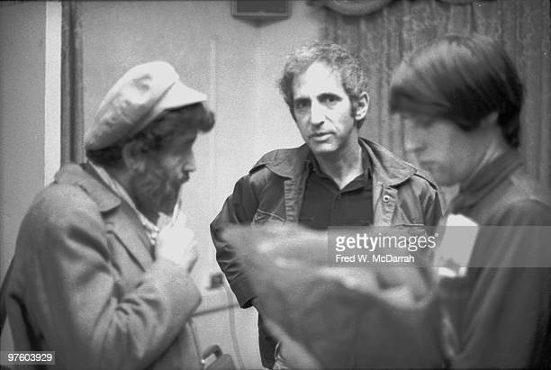 American journalist and music critic Nat Hentoff speaks with former US Military analyst Daniel Ellsberg at the AJ Liebling CounterConvention New York...