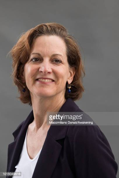 American journalist and Pulitzer PrizeÐwinning Anne Applebaum attends a photocall during the Edinburgh International Book Festival on August 11 2018...
