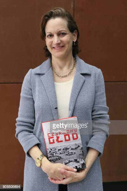 American journalist and Pulitzer Prizewinning author Anne Applebaum is seen in Gdansk Poland on 28 February 2018 Applebaum promotes her book ' Red...