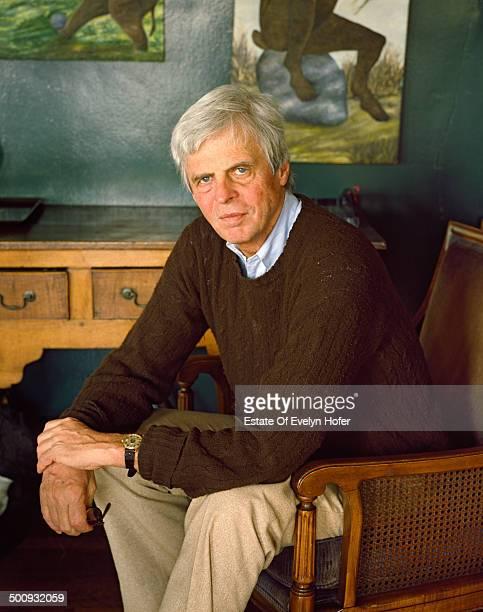 American journalist George Plimpton , New York, 1988.