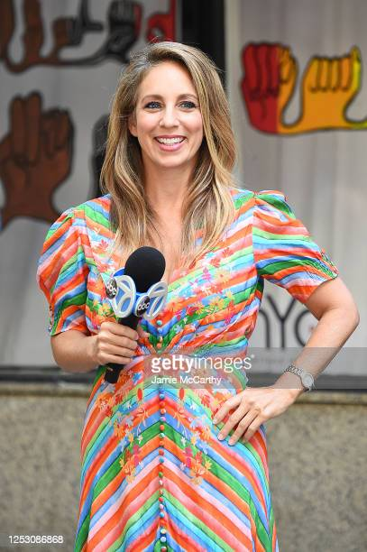 American journalist Lauren Glassberg poses during the 50th anniversary of the first Pride march on June 28 2020 in New York City Due to the ongoing...