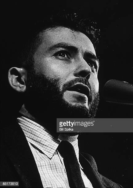 American journalist novelist and critic Nat Hentoff speaks into a microphone circa 1960
