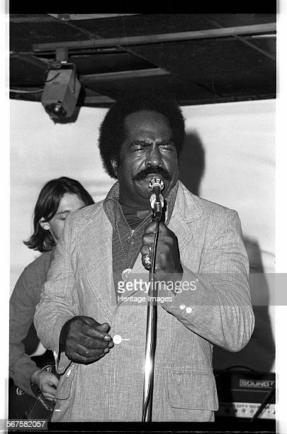 American jump blues singer Jimmy Witherspoon at Ronnie Scott's, Soho, London, 1973.