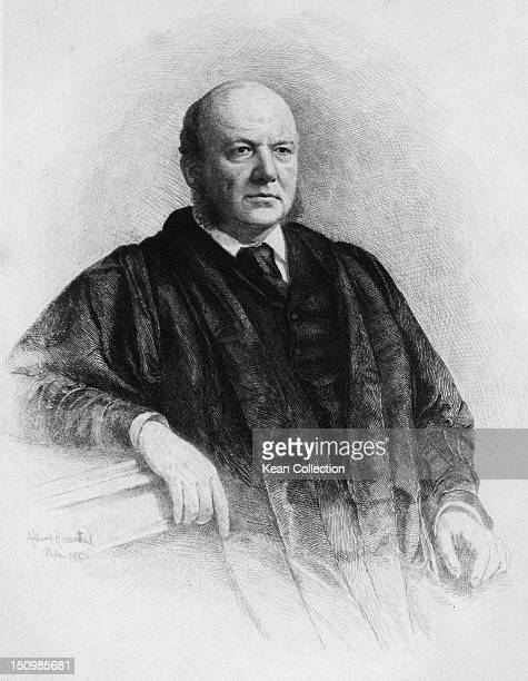 American jurist Horace Gray , Associate Justice of the United States Supreme Court, 1890. By Albert Rosenthal, from a photograph.