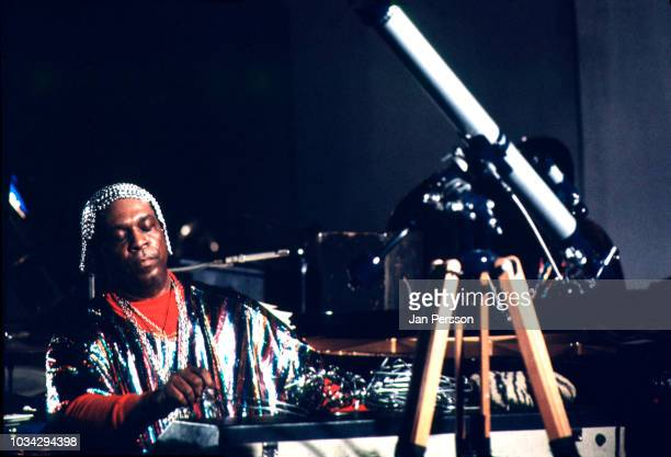 American keyboard player composer and orchestra leader Sun Ra performing at Berliner Jazz Tage Berlin Germany November 1970
