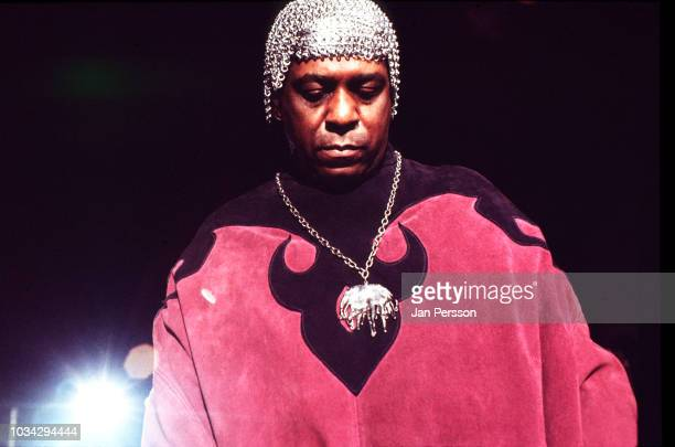 American keyboard player composer and orchestra leader Sun Ra performing at Berliner Jazz Tage Berlin Germany November 1970 In the back singer June...