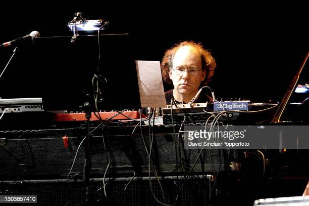 American keyboardist and composer Wayne Horovitz in rehearsal on stage at the Purcell Room in London on 3rd February 2004.