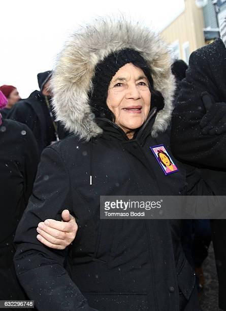 American labor leader and civil rights activist Dolores Huerta attends The Women's March on Main covered by The IMDb Studio during The 2017 Sundance...