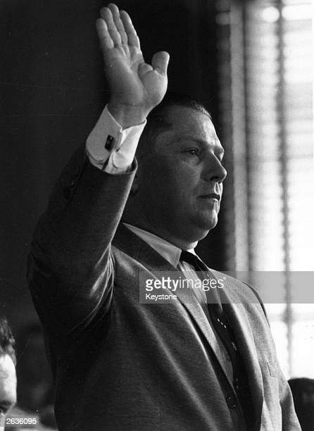 American labour leader Jimmy Hoffa , President of the Teamster's Union. Rumoured to have mafia connections, Hoffa disappeared in 1975 and no body has...
