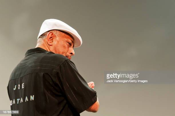 American Latin and soul musician Joe Bataan and the Barrio All Stars perform during an evening of Boogaloo music at Central Park SummerStage New York...