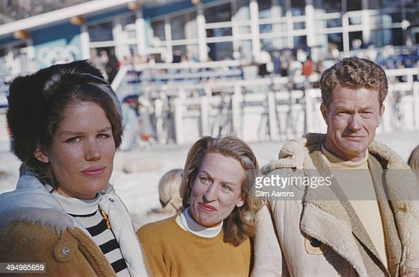 American lawyer and businessman Alexander Cochrane Cushing at the Squaw Valley Ski Resort which he developed in Olympic Valley California USA January...