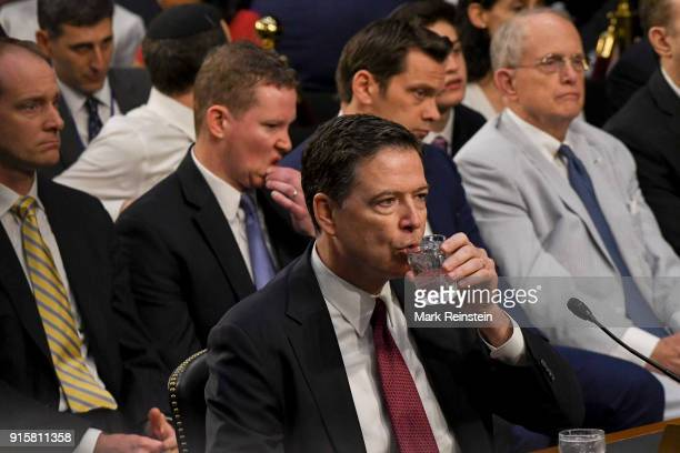 American lawyer and former FBI Director James Comey testifies before the Senate Intelligence Committee Washington DC June 8 2017