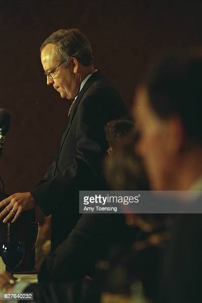 American lawyer and judge Kenneth Starr resigns after Whitewater scandal