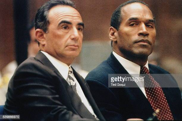 American lawyer Robert Shapiro defends OJ Simpson from the charges that he murdered his exwife Nicole Brown and Ronald Goldman