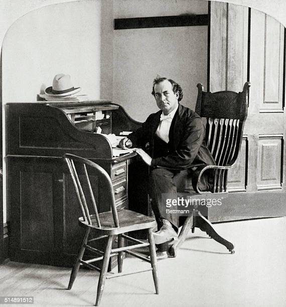 1898 American lawyer William Jennings Bryan seated at his desk in his office Bryan is famous for three failed Presidential candidacies and his...