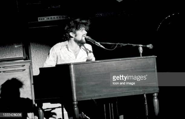 American lead vocalist keyboardist composer and arranger for Vanilla Fudge Mark Stein performs with the Fudge at the Music Hall in Houston TX March...