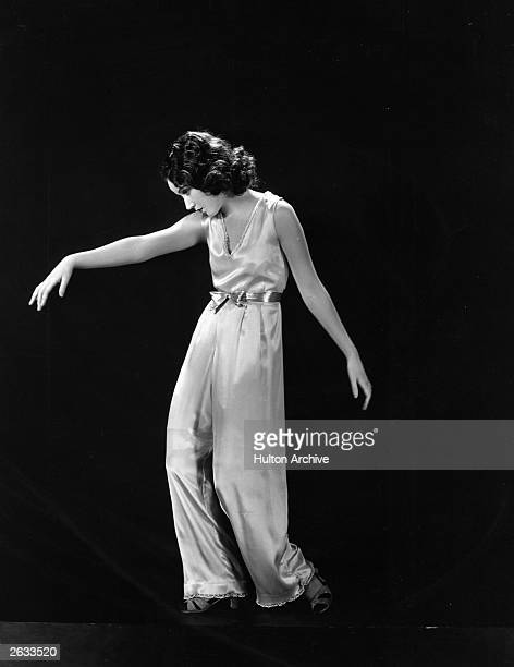 American leading lady Fay Wray demonstrating one of the types of dance popular with Hollwood actresses which help produce a slender figure and keep...