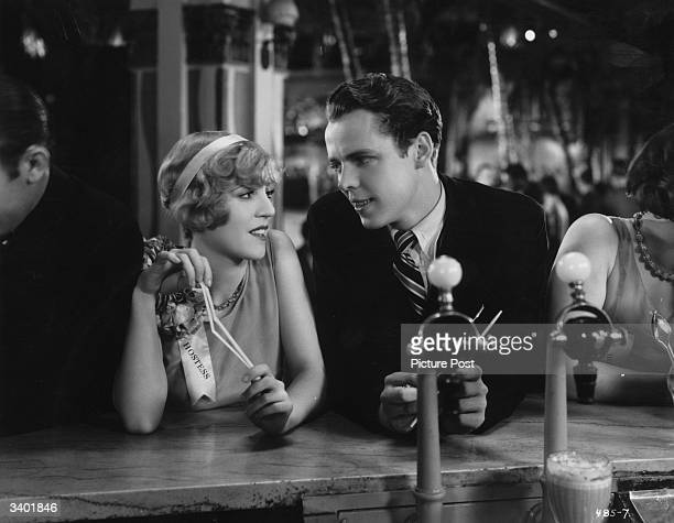 American leading lady Olive Borden and American comic actor Arthur Lake in a scene from the film 'Dance Hall'
