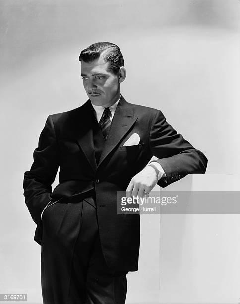 American leading man Clark Gable strikes an elegant pose