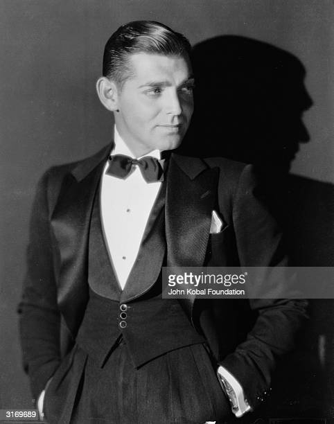 American leading man Clark Gable winner of the 1935 Academy Award for Best Actor for his role in 'It Happened One Night' Producer Irving Thalberg...