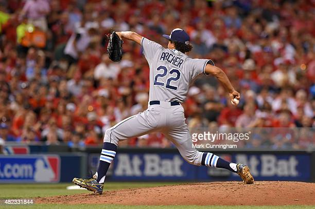 American League AllStar Chris Archer of the Tampa Bay Rays pitches during the 86th MLB AllStar Game at Great American Ball Park on July 14 2015 in...