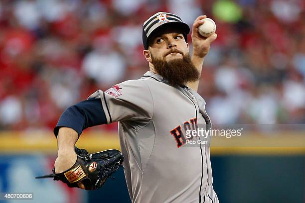 American League AllStar Dallas Keuchel of the Houston Astros throws a pitch in the first inning against the National League during the 86th MLB...