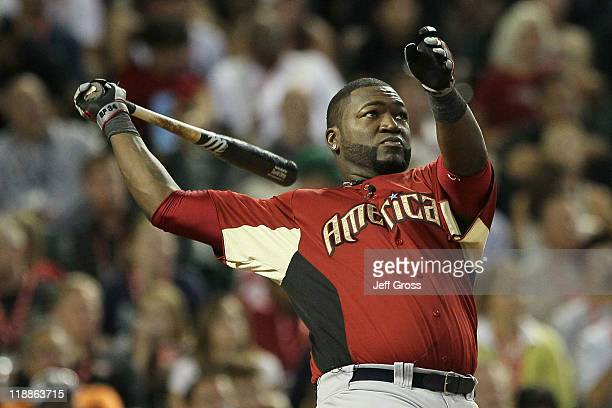 American League AllStar David Ortiz of the Boston Red Sox participates in the second round of the 2011 State Farm Home Run Derby at Chase Field on...