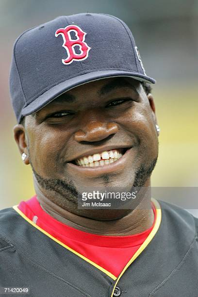 American League All-Star David Ortiz of the Boston Red Sox looks on before the 77th MLB All-Star Game at PNC Park on July 11, 2006 in Pittsburgh,...