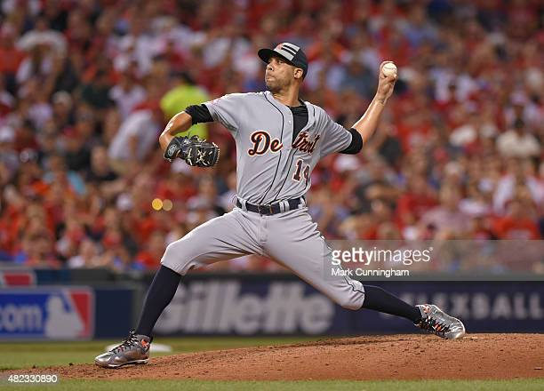 American League AllStar David Price of the Detroit Tigers pitches during the 86th MLB AllStar Game at Great American Ball Park on July 14 2015 in...