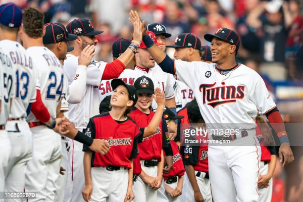 American League All-Star Jorge Polanco of the Minnesota Twins during the 90th MLB All-Star Game on July 9, 2019 at Progressive Field in Cleveland,...