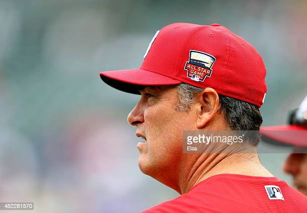 American League AllStar Manager John Farrell looks on before the 85th MLB AllStar Game at Target Field on July 15 2014 in Minneapolis Minnesota
