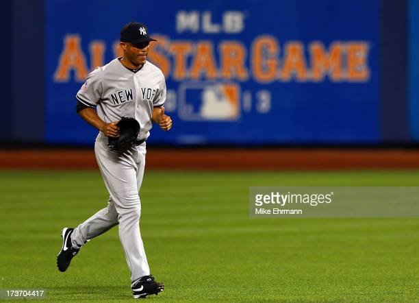American League All-Star Mariano Rivera of the New York Yankees comes into the game to pitch in the bottom of the eighth inning against National...
